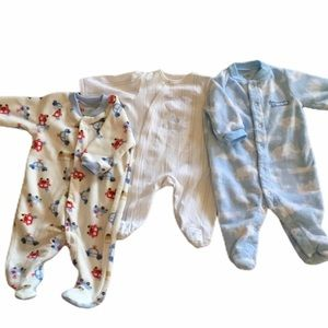 Bundle of 3 Footed Sleepers 3 mos Carter's